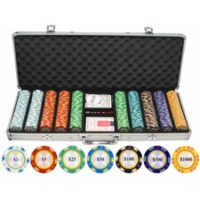 500 Piece Monte Carlo Clay Poker Chips Set