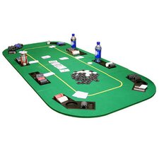 Texas Hold'em Folding Table Top with Cup Holders