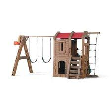"88.5"" x 147"" Adventure Lodge Play Center Swing Set"