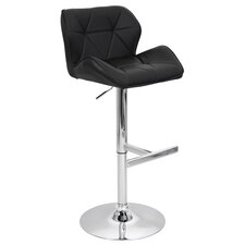 Jubilee Adjustable Height Swivel Bar Stool with Cushion