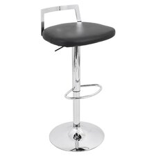 Nano Adjustable Height Swivel Bar Stool with Cushion