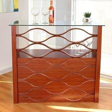 Wave Bar with Wine Storage
