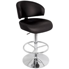 Regent Adjustable Height Swivel Bar Stool with Cushion
