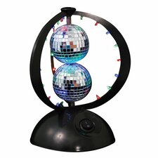 "Disco Planet 8.75"" H Table Lamp with Globe Shade"