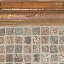 "Cristallo Glass 8"" x 3"" Decorative Chair Rail Tile Trim in Smoky Topaz"