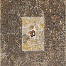 """Castle De Verre 12-13/16"""" x 9-13/16"""" Decorative Accent Tile in Regal Rouge"""