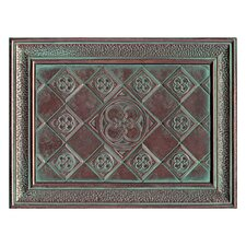 """Castle Metals 16"""" x 12"""" Clover Mural Decorative Wall Tile in Aged Copper"""