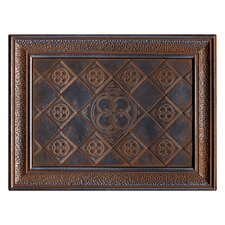 "Castle Metals 16"" x 12"" Clover Mural Decorative Wall Tile in Wrought Iron"