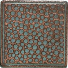 """Castle Metals 2"""" x 2"""" Hammered Dot Decorative Accent Tile in Aged Copper"""
