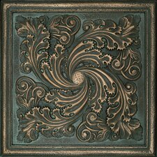 "Metal Signatures Artesia Mural 12"" x 12"" Decorative Tile in Aged Bronze"