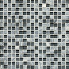 "Stone Radiance 0.63"" x 0.63"" Slate Mosaic Tile in Glacier Gray Marble"