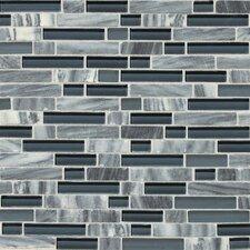 Stone Radiance Random Sized Slate Mosaic Tile in Glacier Gray Marble