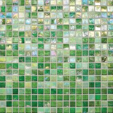 "City Lights 0.5"" x 0.5"" Glass Mosaic Tile in Green"