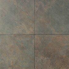 Continental Slate 6'' x 6'' Porcelain Field Tile in Brazilian Green