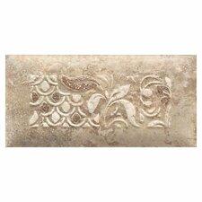 "Del Monoco 6-1/2"" x 3-1/4"" Glazed Decorative Tile in Tatiana Noce"