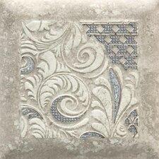 """Del Monoco 6-1/2"""" x 6-1/2"""" Glazed Decorative Tile in Leona Grigio"""