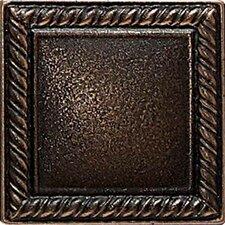 "Ion Metals 2"" x 2"" Decorative Rope Accent Tile in Antique Bronze"