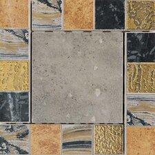 """Terra Antica 6"""" x 6"""" Decorative Accent Insert in Celeste / Grigio"""