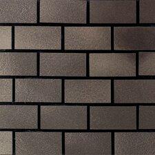 "Urban Metals 2"" x 1"" Brick Joint Decorative Accent in Bronze"
