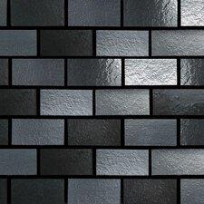 "Urban Metals 2"" x 1"" Brick Joint Decorative Accent in Gunmetal"