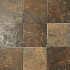 Franciscan Slate 11.75'' x 11.75'' Porcelain Field Tile Mosaic in Terrain Marrone