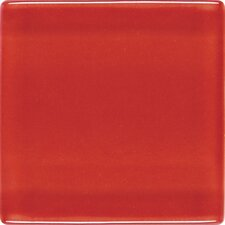 """Isis 1"""" x 1"""" Glass Mosaic Tile in Candy Apple Red"""