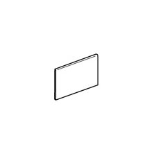 "Modern Dimensions 8.5"" x 4.25"" Bullnose Tile Trim in Biscuit"