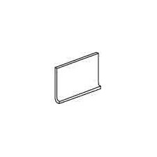 "Modern Dimensions 8.5"" x 4.25"" Flat Top Cove Base Tile Trim in Matte Arctic White (Set of 3)"
