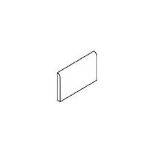 "Rittenhouse Square 6"" x 3"" Bullnose Tile Trim in White (Set of 4)"