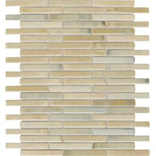 """Fashion Accents 0.63"""" x 3"""" Glass Mosaic Tile in Sand"""
