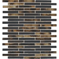"""Fashion Accents 0.63"""" x 3"""" Glass Mosaic Tile in Umber"""