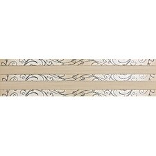 """Spark 24"""" x 6"""" Decorative Accent Tile in Firelight Flicker / Ember Flare"""