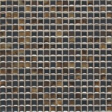 """Fashion Accents 0.63"""" x 0.63"""" Glass Mosaic Tile in Umber"""