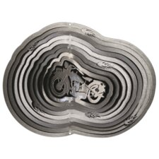 Silver Motorcycle Wind Spinner