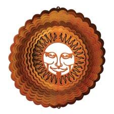 Copper Sunburst Wind Spinner