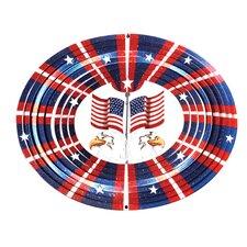Designer 3D Eagle Flag Wind Spinner