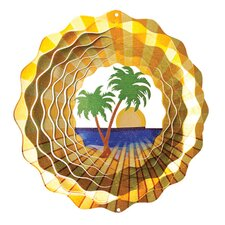 Designer Palm Tree Wind Spinner