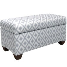 Ikat Upholstered Storage Bedroom Bench