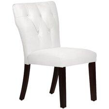 Velvet Tufted Hourglass Side Chair