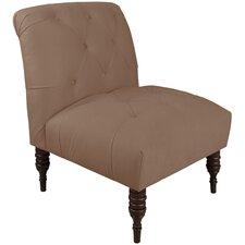 Velvet Armless Slipper Chair