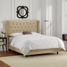 Tufted Upholstered Wingback Panel Bed