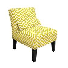 Zippy Upholstered Slipper Armless Chair