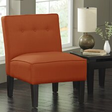 Armless Accent Chair in Patriot Tangerine