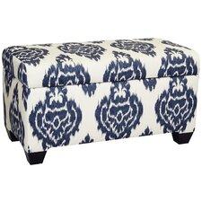 Diamon Upholstered Cotton Storage Ottoman