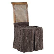 Matelasse Damask Chair Skirt Slipcover
