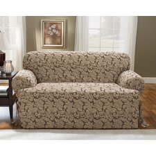 Scroll Classic Loveseat T Cushion Skirted Slipcover