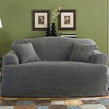 Soft Suede Sofa Slipcover (T- Cushion)