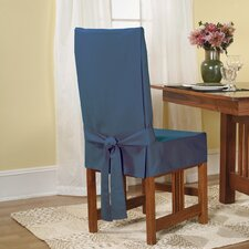 Cotton Duck Shorty Dining Room Chair Slipcover