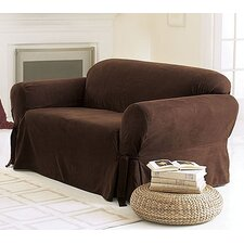 Soft Suede Loveseat Slipcover (Box Cushion)