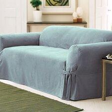 Soft Suede Loveseat Slipcover (Box Cushion)